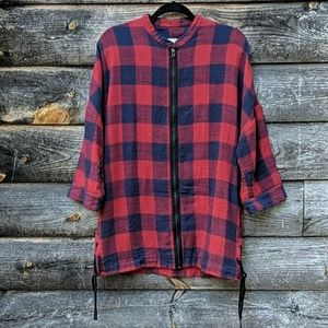 Ch. Chapter Buffalo Plaid Moral Form Zip Front